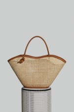 Large Cella Bag in Camel Leather and Chair