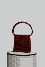 Loop Bag in Nutella Crocco Embossed Leather