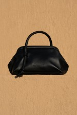 Money Pouch in Black Leather