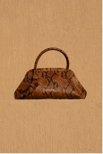Money Pouch in Snake Embossed Leather
