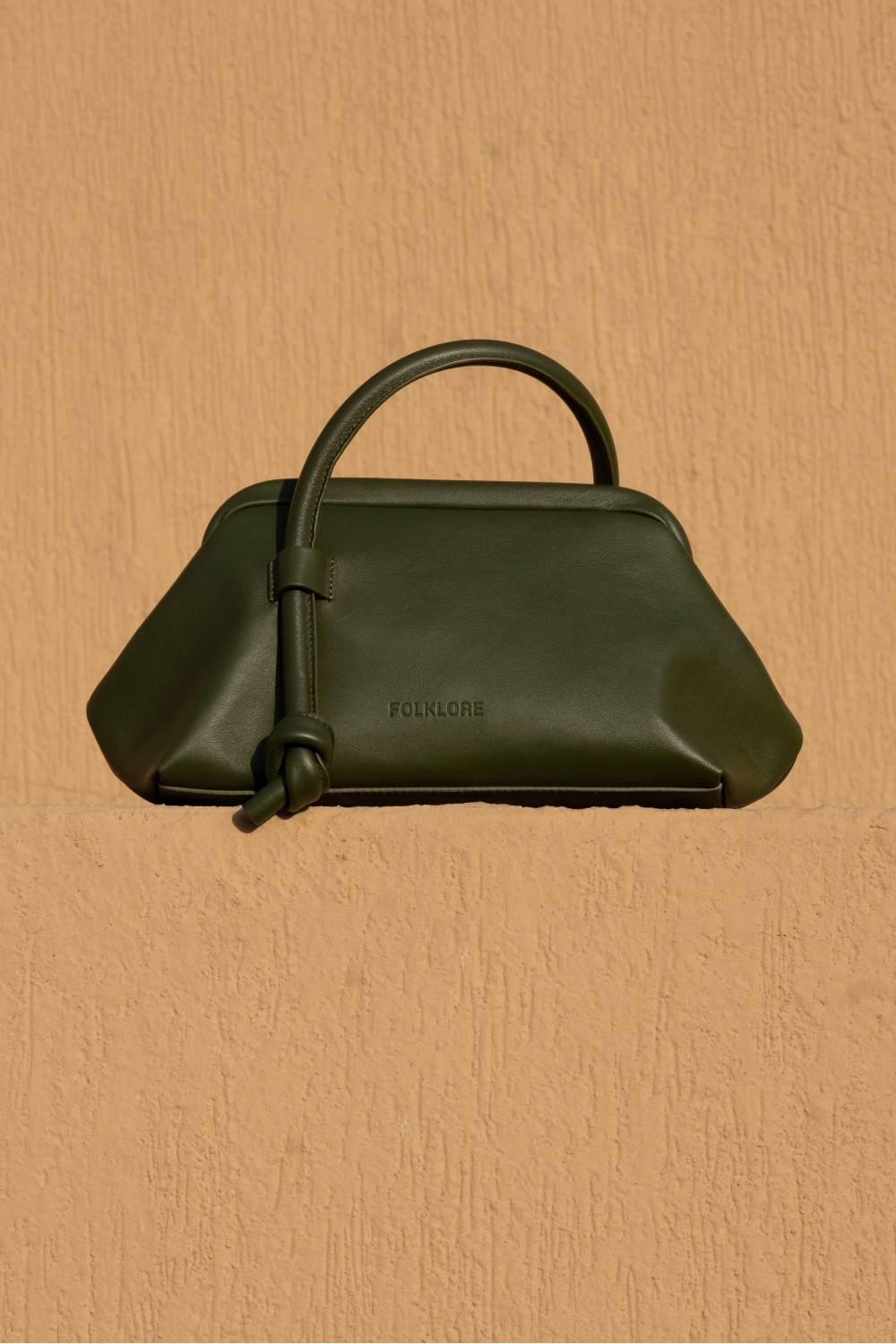 Money Pouch in Army Green Leather