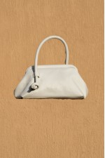 Money Pouch in Dirty White Leather