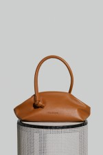 Money Pouch in Camel Leather