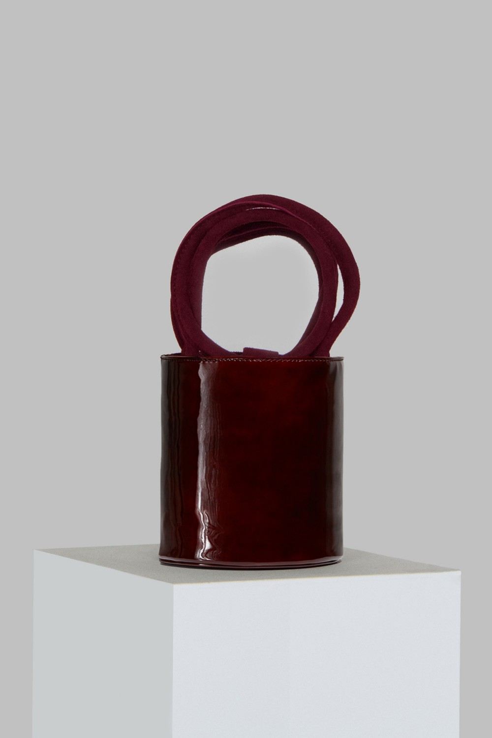 Mini Kyklos Maroon Patent Leather Bag