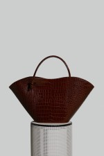 Cella Bag in Nutella Crocco Embossed Leather (PRE-ORDER)