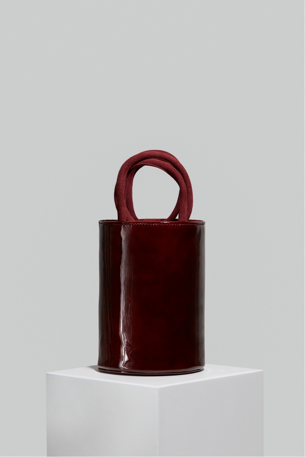 Medium Kyklos Maroon Patent Leather Bag