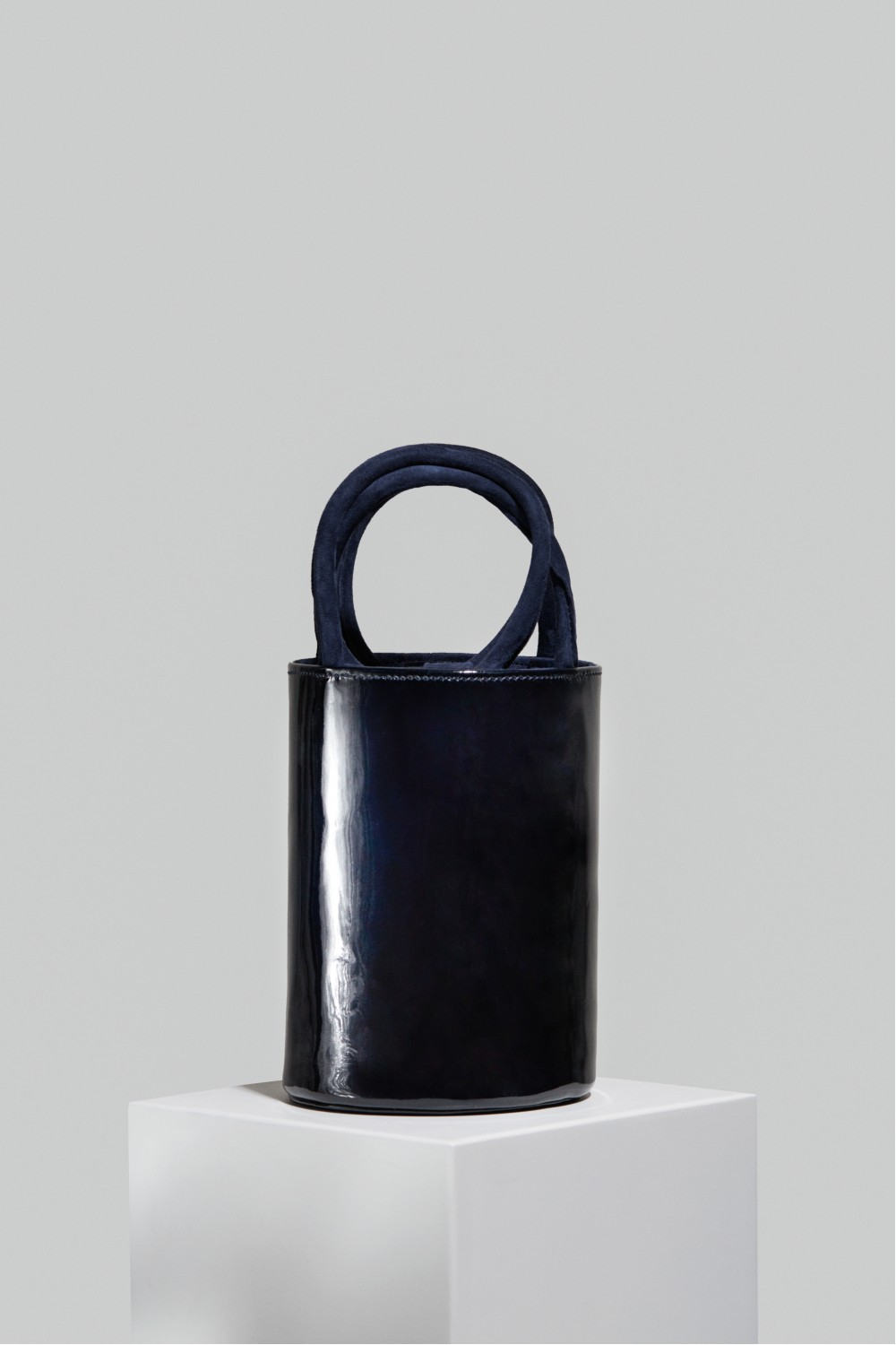 Medium Kyklos Navy Patent Leather Bag