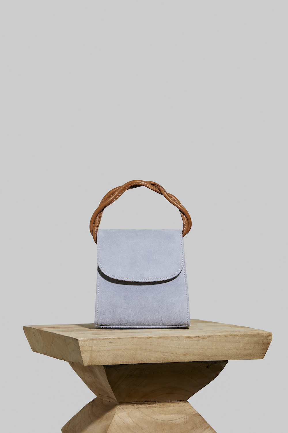 Loop Bag in Baby Blue Suede