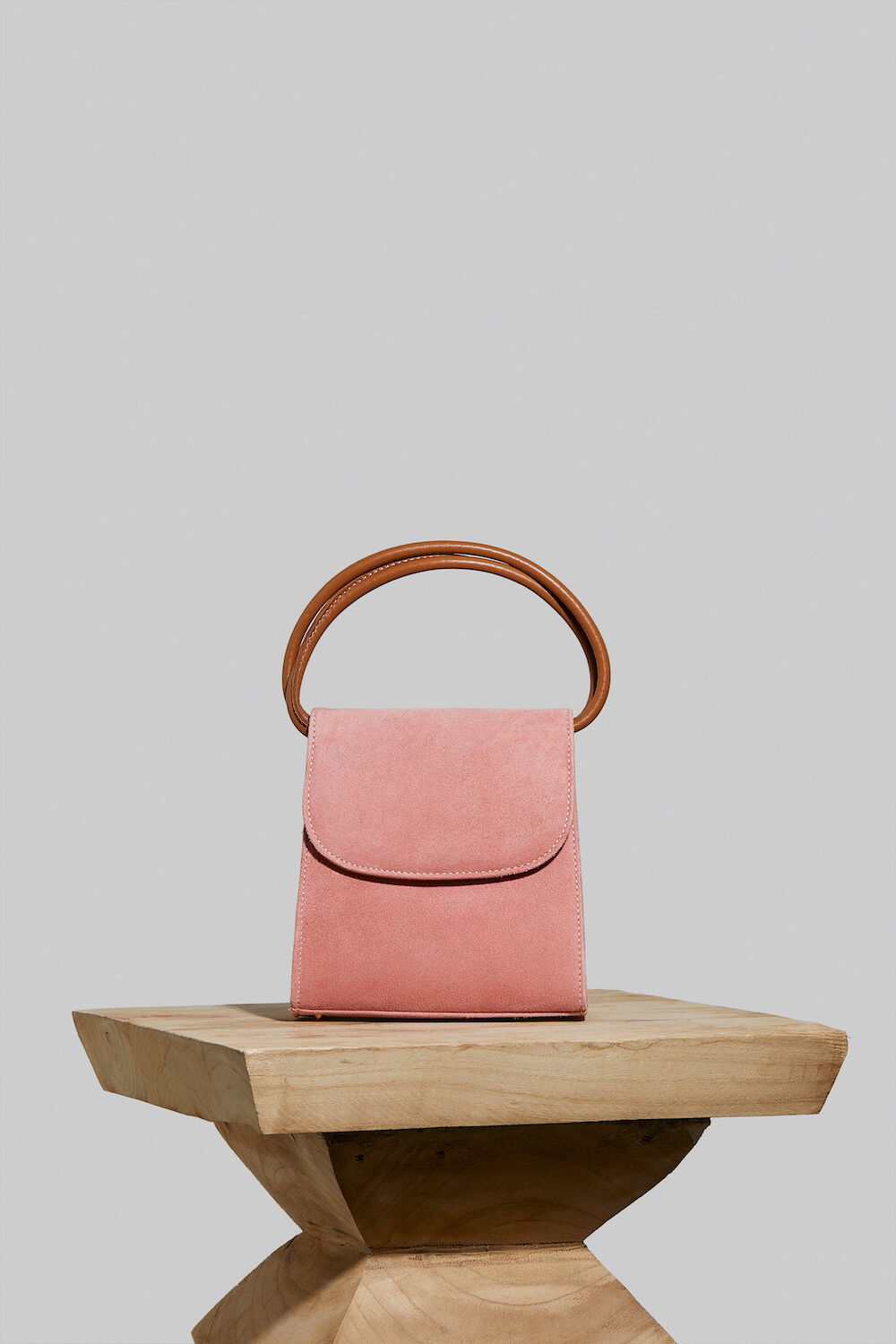 Loop Bag in Blush Pink Suede