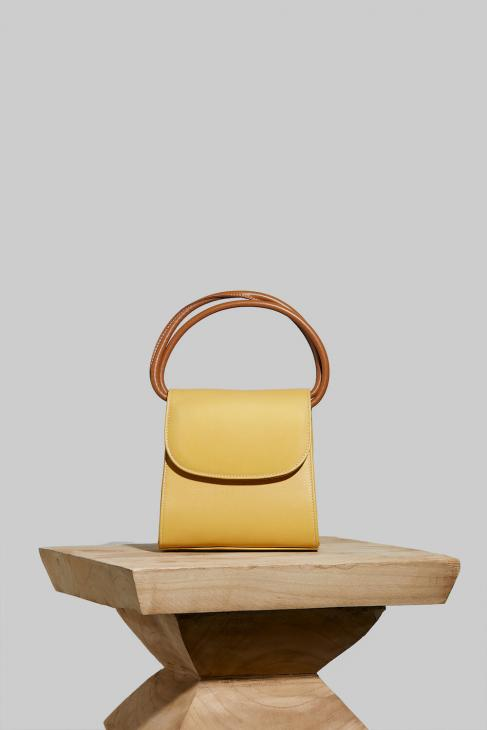 Loop Bag in Yellow Leather