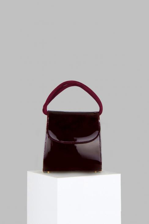 Loop Bag in Maroon Patent Leather