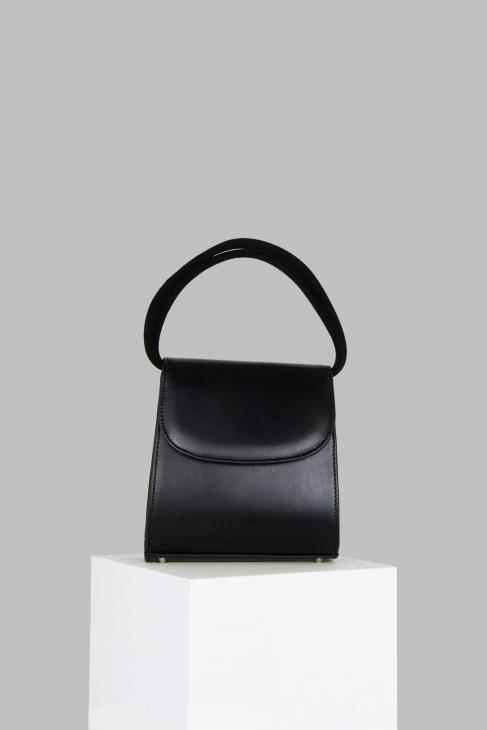 Loop Bag in Black Leather