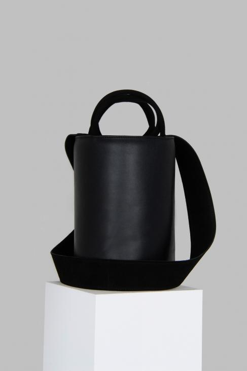 XL Kyklos Black Leather Bag