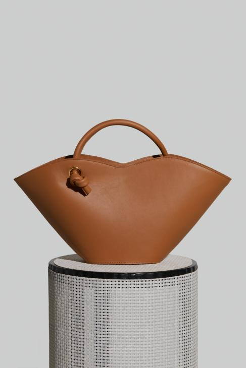 Small Cella Bag in Camel Leather