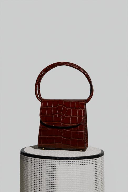 Loop Bag in Nutella Crocco Embossed Leather (PRE-ORDER)